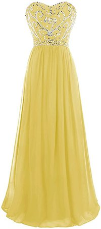 Amazon.com: MsJune Prom Dresses Sweetheart Beaded A Line Lace Up Back Floor Length Evening Dress Black 2: Clothing