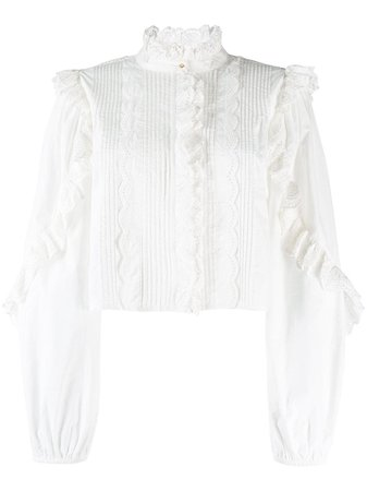 Ulla Johnson Cropped Ruffled Blouse - Farfetch