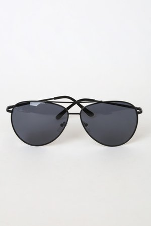 Cool Black Aviators - Aviator Sunglasses - Black Sunglasses - Lulus