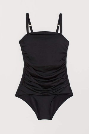 Swimsuit with Breast Form - Black