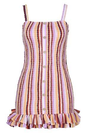 MINKPINK Ilios Smocked Cover-Up Minidress