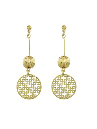 Hollow Out Round Ball Dangle Earrings