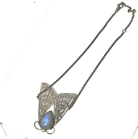 Flannery Grace Good moth necklace