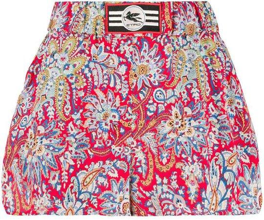 floral paisley print shorts