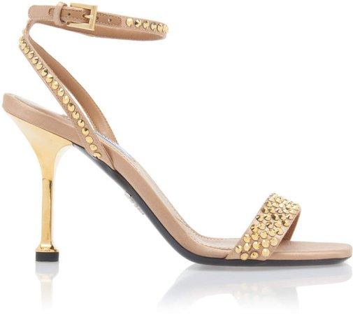 Studded Crystal Sandals