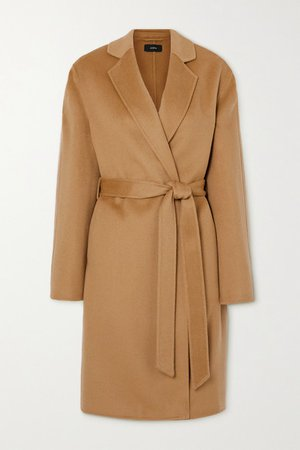 Cenda Belted Wool And Cashmere-blend Coat - Camel