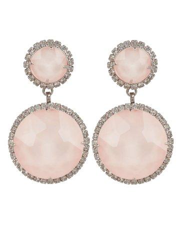 Pink Quartz Drop Earrings   INTERMIX®