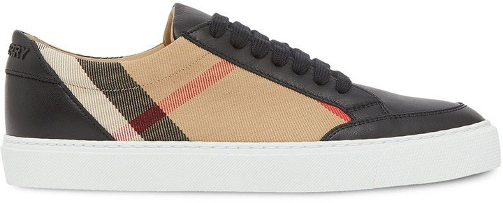 Check Pattern Low-Top Sneakers