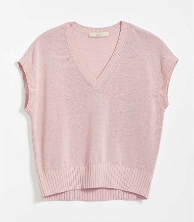 V-Neck Sweater Tee   LOFT