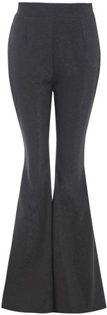 Sarvin - Cobie Black High Waisted Flared Trousers