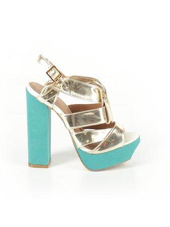ASOS Solid Gold Heels Size 7 - 60% off | thredUP