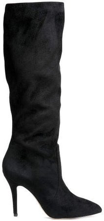 High-heeled boots - Black
