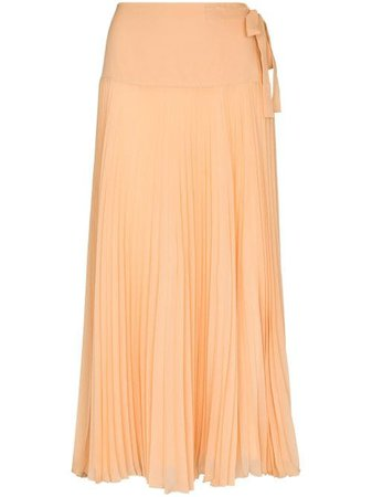 Chloé Tie Fastening Pleated Skirt - Farfetch