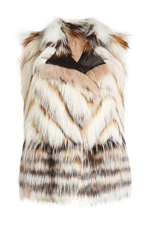 Vest with Mink, Fox and Raccoon Fur Gr. IT 42