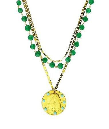 Katerina Psoma Amore Chain Jade Necklace < Katerina Psoma List | aesthet.com