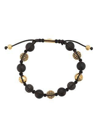 Nialaya Jewelry Beaded Bracelet MCZ10ST033 Black | Farfetch