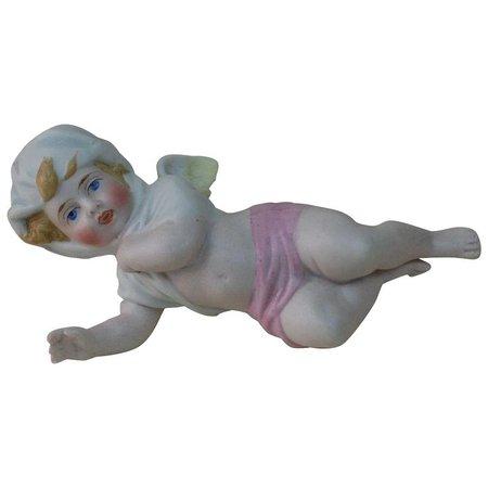 1890's German Porcelain Angel Figure. : Fun City | Ruby Lane