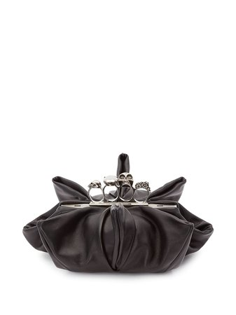 Alexander McQueen Four-Ring clutch bag - FARFETCH