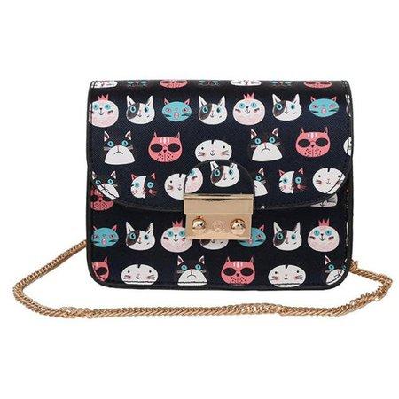 printed cats purse - Google Search