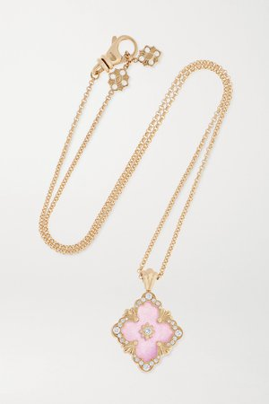 Gold 18-karat gold, jade and diamond necklace | Buccellati | NET-A-PORTER