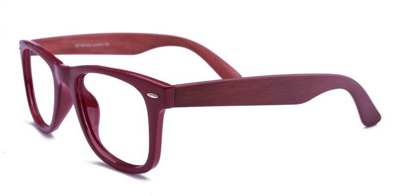 Burgundy eyeglasses
