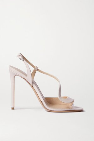 S Leather And Pvc Sandals - Baby pink