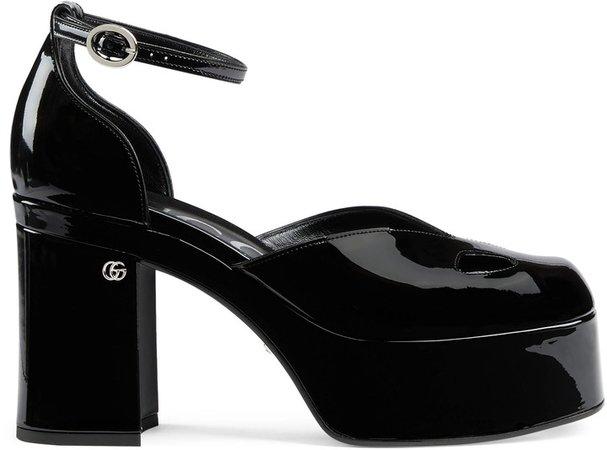 Women's ankle-strap platform pump