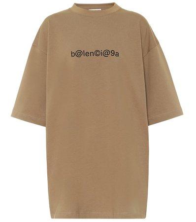 Logo Cotton-Jersey Oversized T-Shirt | Balenciaga - Mytheresa