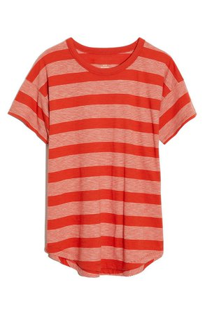 Madewell Whisper Cotton Boone Stripe Crewneck T-Shirt
