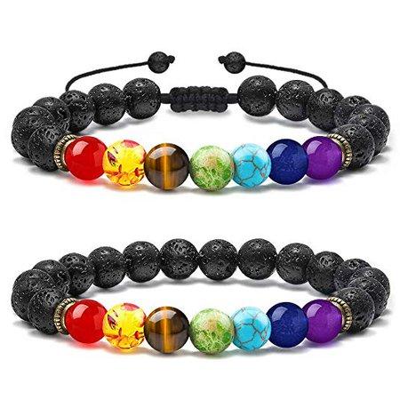 M MOOHAM Lava Stone Bracelets
