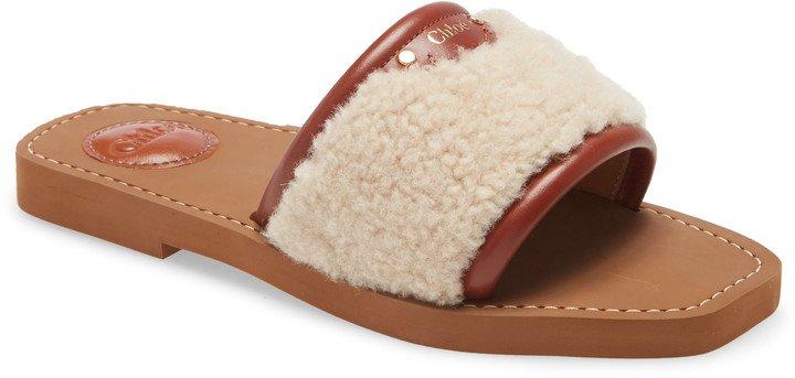 Genuine Shearling Slide Sandal