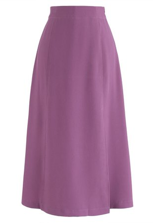 Shock Me into Love A-Line Skirt in Violet - Retro, Indie and Unique Fashion