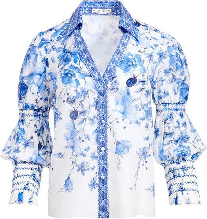 Cosima Floral Button Front Blouse