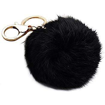 Black Keychain Pom