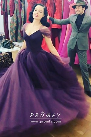 purple ball gowns with sleeves - Google Search