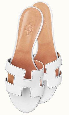 hermes white sandals