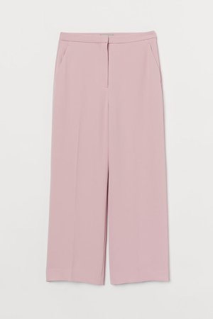 Ankle-length Suit Pants - Pink