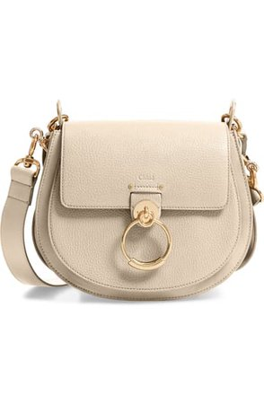 Chloé Large Tess Grained Lambskin Leather Shoulder Bag | Nordstrom