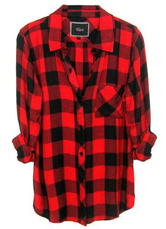 Red/Black Plaid Flannel Shirt
