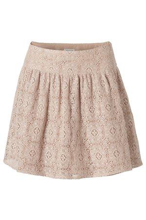 Lacy beige skirt