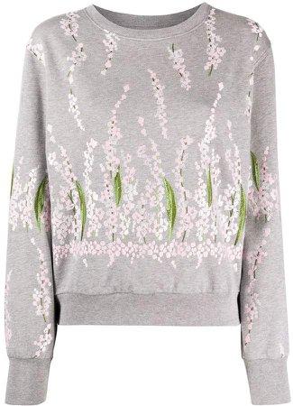 Floral Embroidered Cotton Sweatshirt