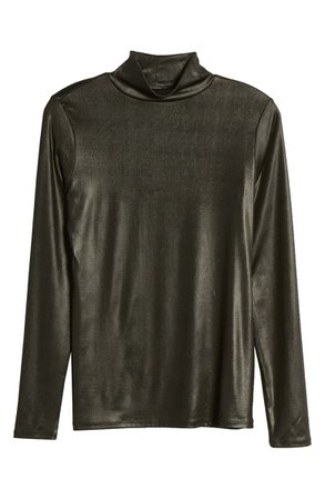Halogen® Satin Turtleneck Top | Nordstrom