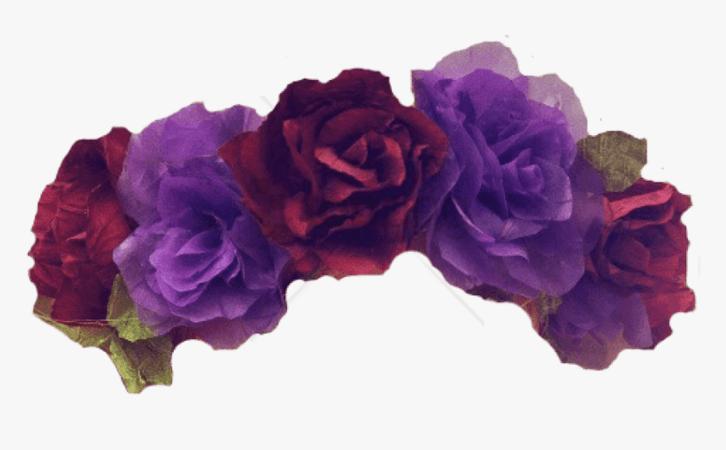 Free Png Flower Crown Transparent Overlay Png Image - Purple Flower Crown Png, Png Download , Transparent Png Image - PNGitem