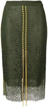 high-waist mesh skirt