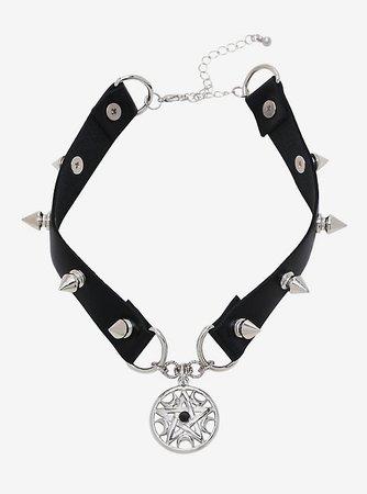 Pentagram & Spikes Choker