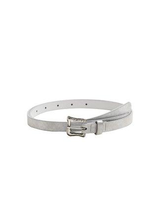 MANGO Buckle metallic belt