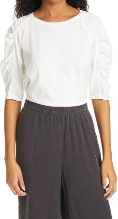 Celian Raglan Ruched Sleeve T-Shirt