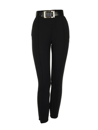 Elisabetta Franchi Celyn B. Black Trousers With Belt