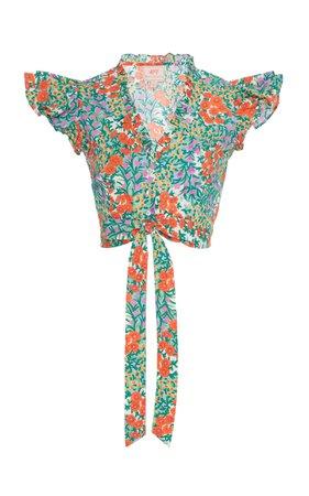 Banjanan Cropped Cotton Pearl Top Size: XS