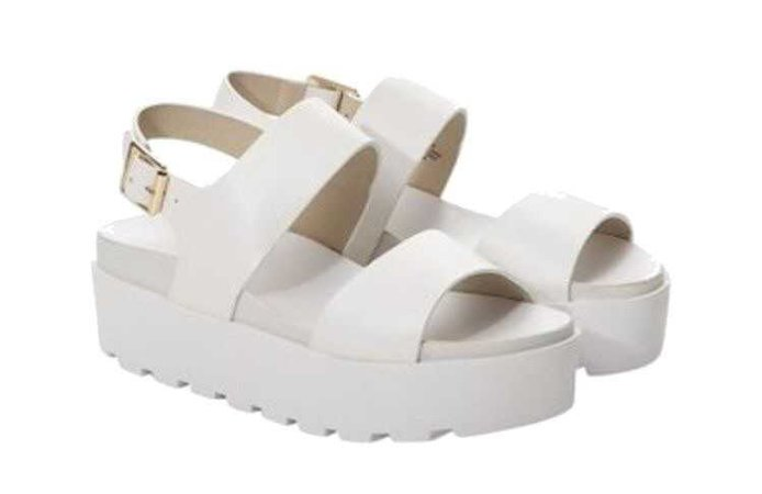 White platform sandals polyvore moodboard filler